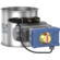 Throttle- / Shut-off valves without seal, pneumatically operated with rotary actuator5/2-way-solenoid-valve (1 coil), 2 mechanic